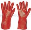 PVC gloves 35cm redbrown