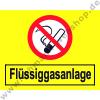 "Sticker ""Liquid gas"" with non-smoking.."