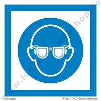 imo symb wear goggles 15x15cm h lohmann schiffs und industriebedarf e k. Black Bedroom Furniture Sets. Home Design Ideas