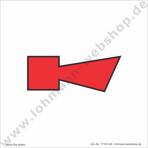 imo symb horn fire alarm 15x15cm h lohmann schiffs und industriebedarf e k. Black Bedroom Furniture Sets. Home Design Ideas