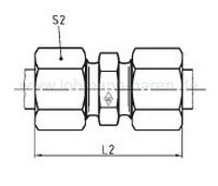 Straight coupling GV 42L