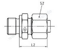 "Male stud coupling 10SR 3/8"""