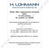 Filter replacement schedule booklet