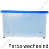 Plastic box with lid and rolls 60x40cm