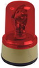 Warning light rotating 24V, DC red