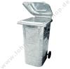 Dust bin 240 ltr. galvanized