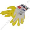 Working gloves yellow nitril coated palm