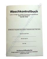 Waschkontrollbuch