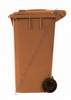 Dust bin 240 ltr. colour: brown